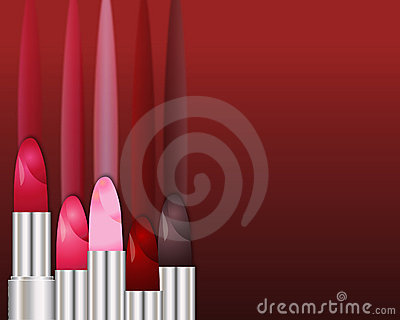 A row of lipsticks