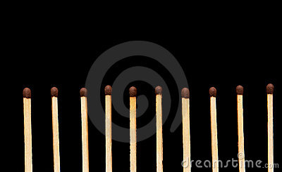Row of matches