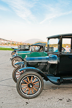 Row of Model T Cars