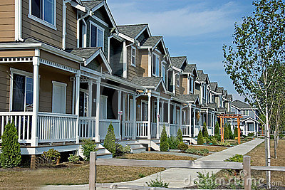 Row of Newer Townhouses