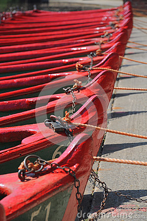 Free Row Of Boats With Ropes And Locks Stock Images - 25144894
