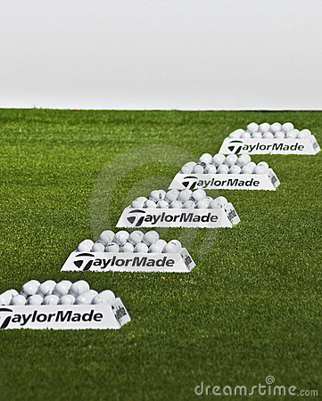 Free Row Of Practice Balls - Taylormade Royalty Free Stock Photos - 14033528