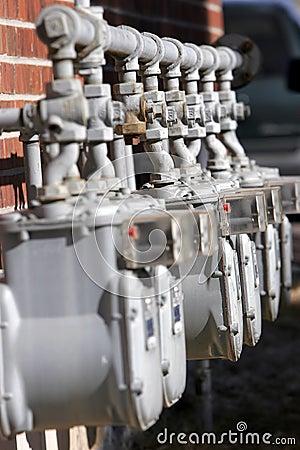 Free Row Of Utility Meters Stock Photos - 591713
