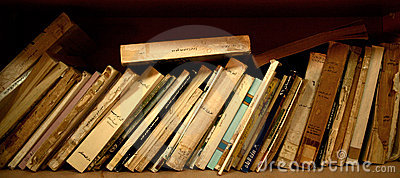 Image result for old books leaning