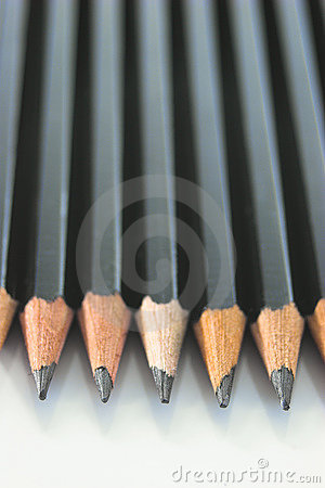 Row of pencils - vertical