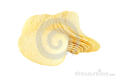 Row of potato chip and single