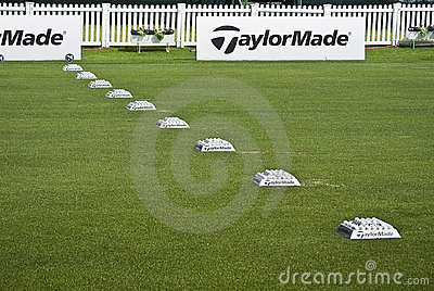 Row of Practice Balls - Taylormade Editorial Image