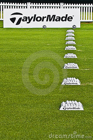 Row of Practice Balls - Taylormade Editorial Stock Image