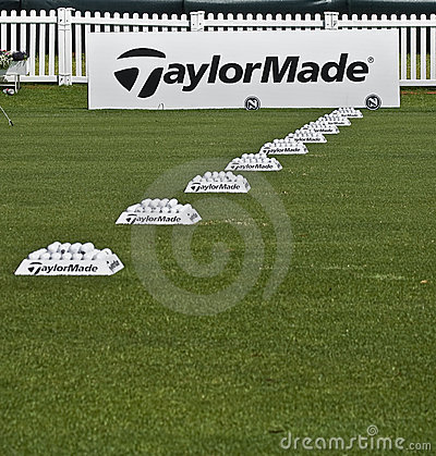 Row of Practice Balls - Taylormade Editorial Photo