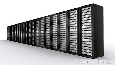 Row of rack servers