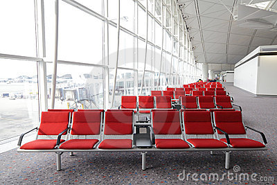 Row of red chair