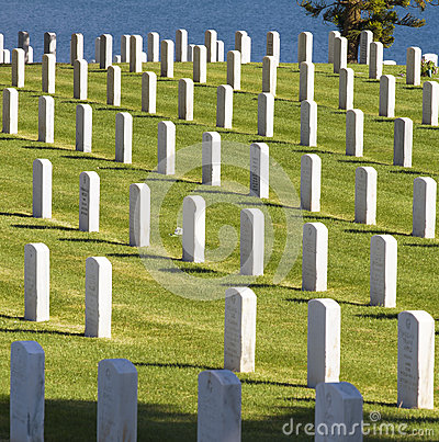 Military Cemetery, California Editorial Stock Image