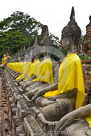 Row of Sacred Buddha images