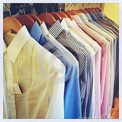 Row of shirts