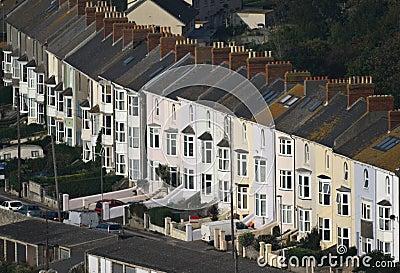 Row of similar English houses