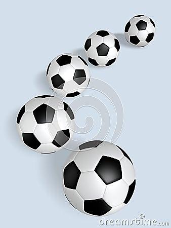 Row of Soccer Balls