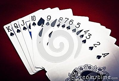 Row of spades