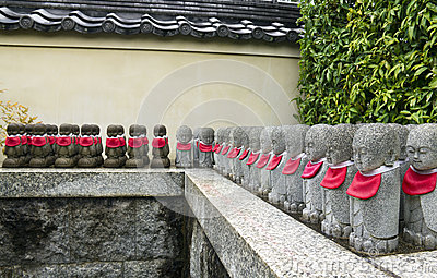 Row of stone statues