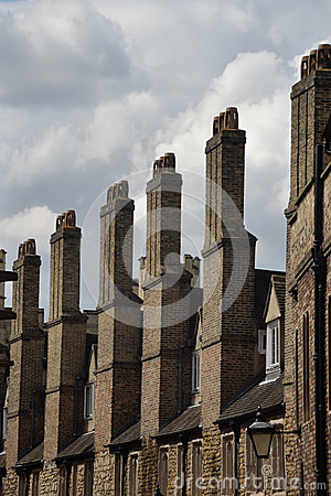 Row of tall chimneys
