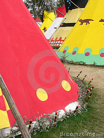 Row of Tepees