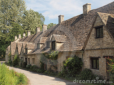 Row of traditional English Cottages