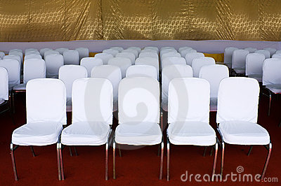 Row of white chair