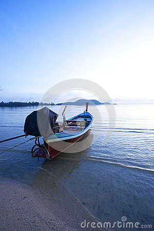 Rowboat on the beach of Thailand