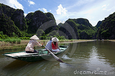Rowboat at Halong Bay