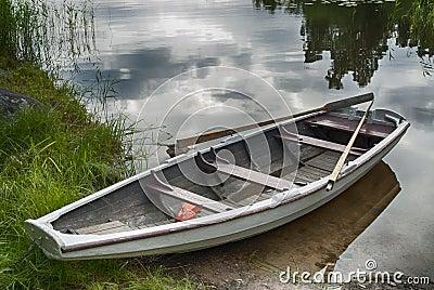 Rowboat at shore