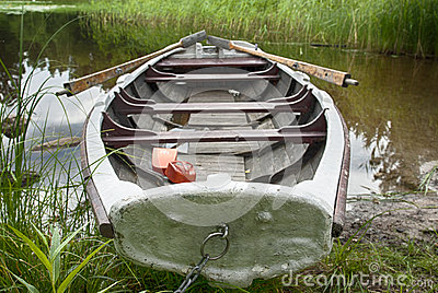Rowboat at shore