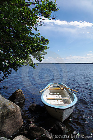 Rowboat in a Swedish lake