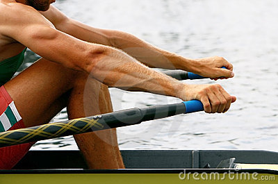 Rower in training