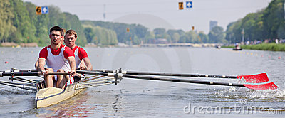 Rowers and oars