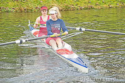 Rowers warming up for the Small Boats Head race. . Editorial Stock Photo