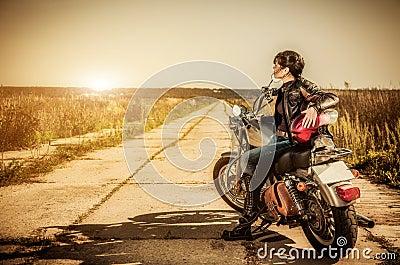 Rowerzysta dziewczyna