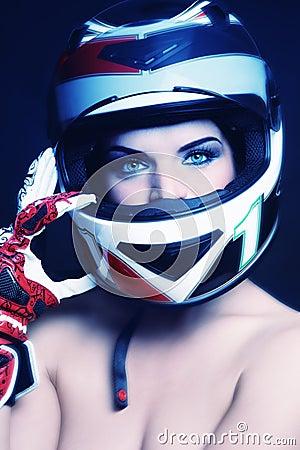Rowerzysty hełma kobieta