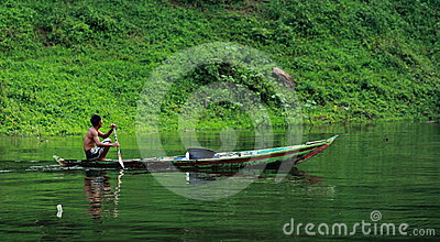 Rowing Boat Editorial Stock Image