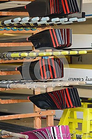 Free Rowing Boat Oars Stock Image - 43136631