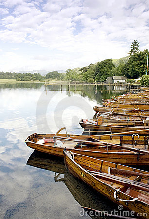 Rowing boats on Windermere