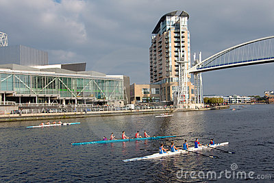 Rowing Boat Race in Manchester, England Editorial Stock Image