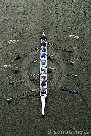 Rowing In Crew Races Editorial Image