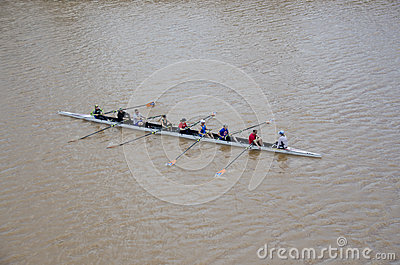 Rowing on the Oklahoma River Editorial Photo