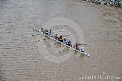 Rowing on the Oklahoma River Editorial Stock Photo