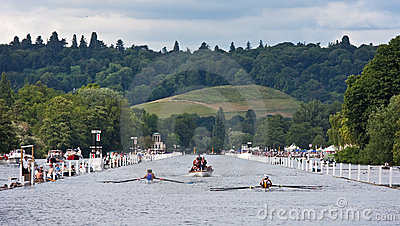 Rowing race at Henley Regatta Editorial Photo