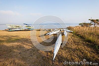 Rowing Regatta Crafts Dam Editorial Image