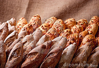 Rows of  bakery