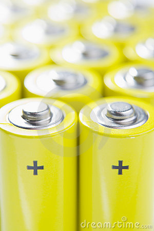 Rows Of Batteries