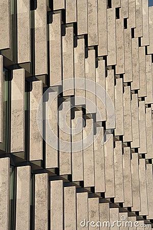 Rows of concrete blocks