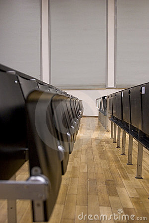 Rows of a lecture hall