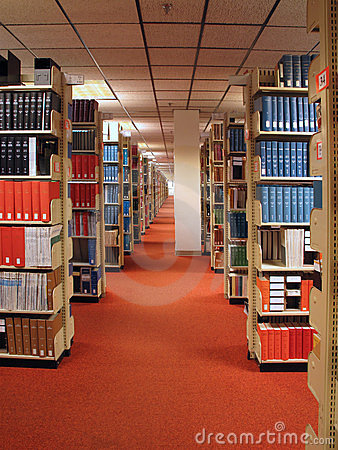 Rows of Library Books